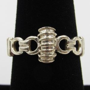 Vintage Size 7.5 Sterling Rustic Unique Odd Ring